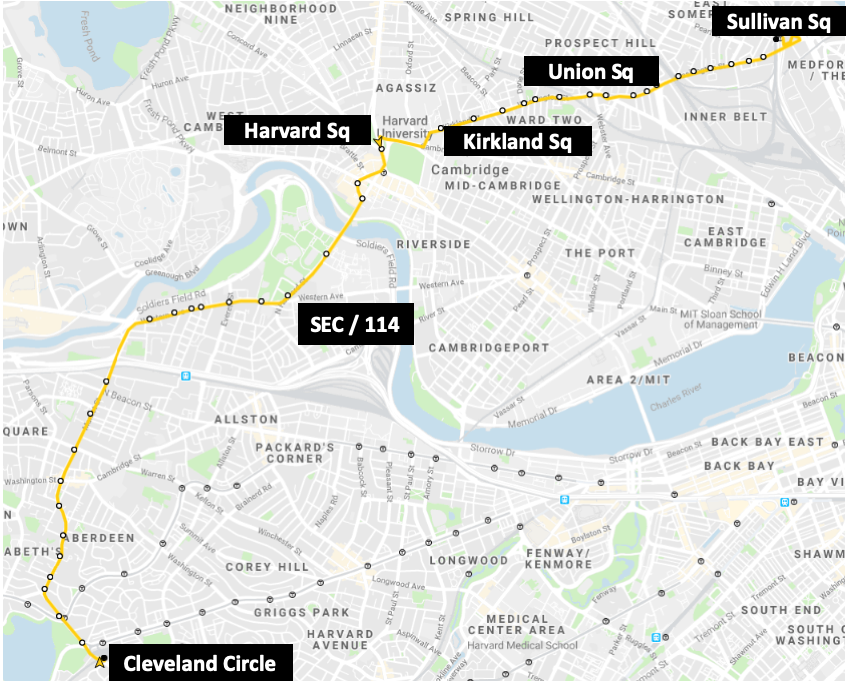 MBTA 86 Bus Route