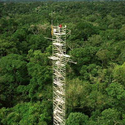 Research tower in the Amazon.