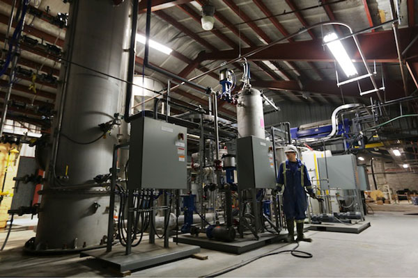 CE's pilot pellet reactor and associated equipment