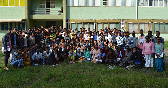 More than 170 Ethiopian high school students from across the country learned the principles of programming and algorithms during the free, four-week AddisCoder program. (Photo courtesy of AddisCoder)