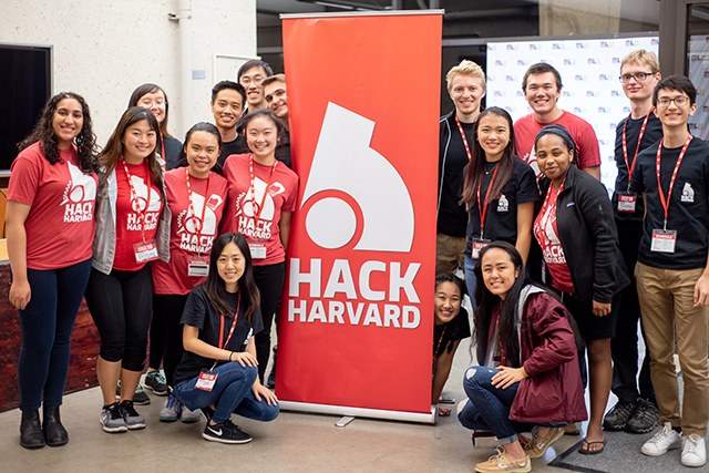 The HackHarvard team worked hard to put together a program that provided learning experiences and workshops for participants. (Photo by Oleksandr Babii)