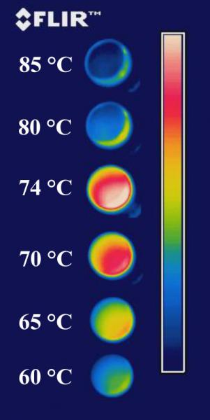 Infrared readings from a vanadium oxide sample