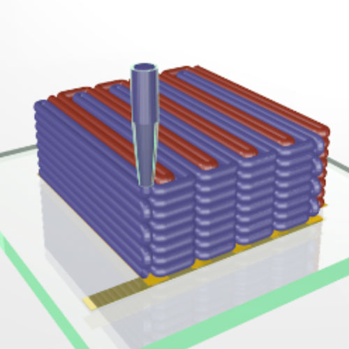 Illustration of 3D printed battery.