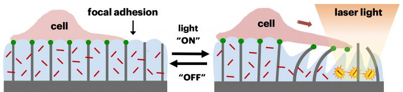 Photothermally triggered hybrid material