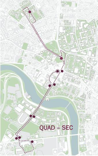 Quad-SEC Shuttle Route