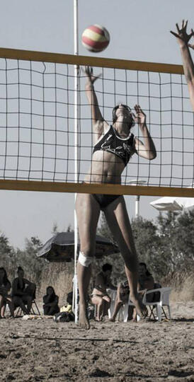 Eleni Dovrou beach volleyball