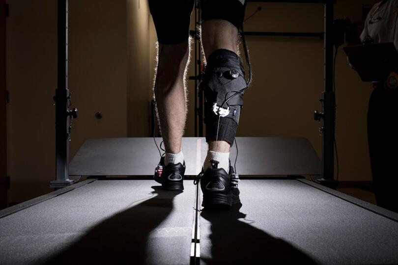 image of leg with exosuit