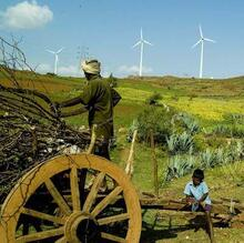 Picture of wind turbines in India