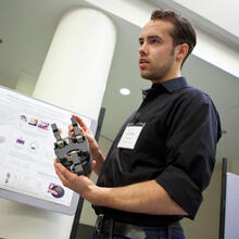 Leif Jentoft demonstrates the i-HY robotic hand