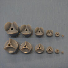 A series of mandrels with different sizes