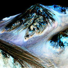 Image of water on Mars