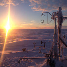 Measuring ground-based equipment in the Arctic