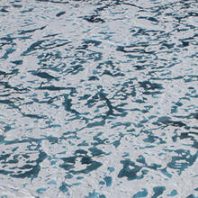 Melt ponds darken the surface of thinning Arctic sea ice