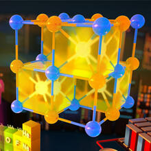 A new algorithm uses the chemical elements in a crystal to predict its material properties. The algorithm simplifies computational required for material discovery and speeds up the process by about 10,000 times, compared to existing algorithms. (Image courtesy of Second Bay Studios/Harvard SEAS)