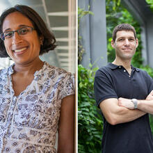 Finale Doshi-Velez (left) and Yaron Singer have been named Alfred P. Sloan Research Fellows (Photos courtesy of Eliza Grinnell/Harvard SEAS)