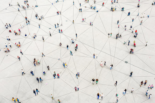 image of people connected