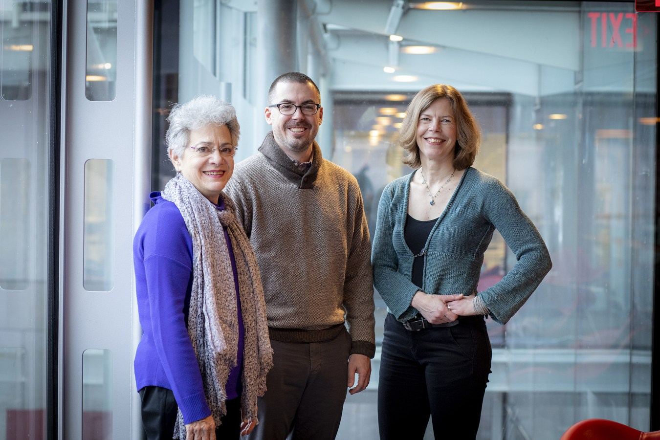 Barbara Grosz (from left), Jeffrey Behrends, and Alison Simmons hope Harvard's approach to turning out graduates who understand ethics as well as algorithms becomes a national model. Rose Lincoln/Harvard Staff Photographer